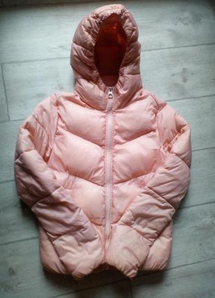 Розовая пудровая демисезонная осень/весна куртка pull and bear