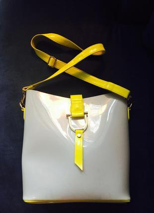 Сумка резиновая кислотная желтая