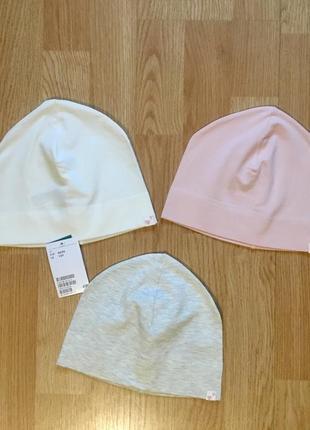 Шапка, шапочка для девочки h&m, набор и поштучно, размер 1-2 г, 86-92