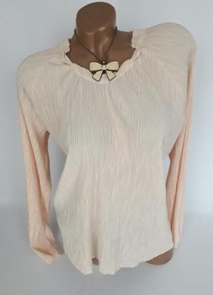 Милая блуза жатка цвета пудры...