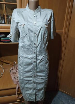 Платье-рубашка с зауженным низом р. 42 gerry weber