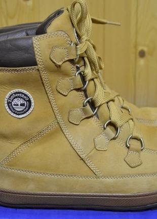 Стильные кожанные ботинки timberland 46