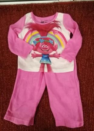 Trolls  флиска пижама disney
