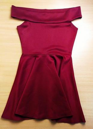 Бордовое платье boohoo 💖💖💖