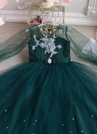 Платье 6-9 лет бальное пышное фатиновое впол макси длиное нарядное