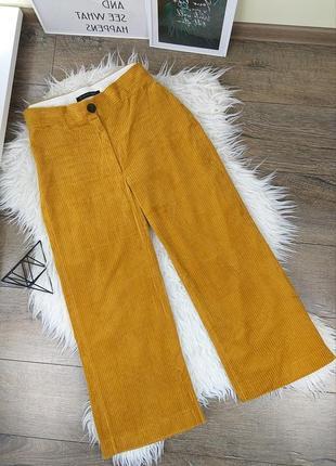 🍀zara woman l/40 яркие оранжевые вельветовые брюки/колюты5 фото