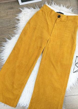 🍀zara woman l/40 яркие оранжевые вельветовые брюки/колюты7 фото