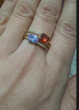 Кольцо,16,17,18 размер.позолота.