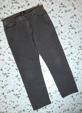 🎁1+1=3 фирменные серые плотные прямые мужские джинсы marks&spencer, размер 50 - 52