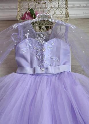 Платье 6-9 лет пышное бальное впол праздничное фатиновое на выпускной