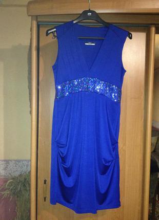 Красивейшее платье синего цвета