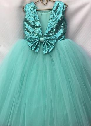 Платье 6-7 лет пышное бальное фатиновое впол праздничное нарядное на выпускной