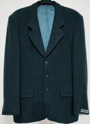 L xl 50 52 сост нов шерсть streetman германия пиджак блейзер жакет цвет морская волна