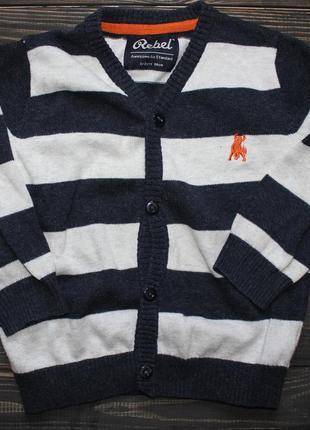 Кофта свитер пуловер в полоску rebel на 2-3 года