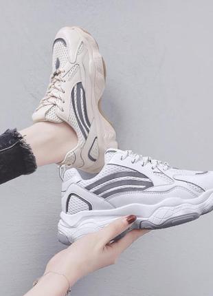 Крутые женские кроссовки со светящийся лентой