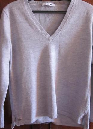 Фирменный свитер lacoste размер xs-s