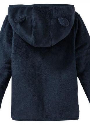 Кофта меховая, флиска для мальчика синяя lupilu2 фото