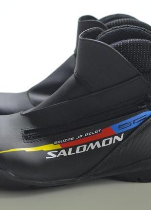 Лыжные ботинки, беговые лыжи salomon equipe jr pilot children
