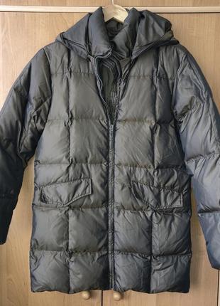 Пуховик пуховое пальто куртка прямое oversize бойфренд свободное парка