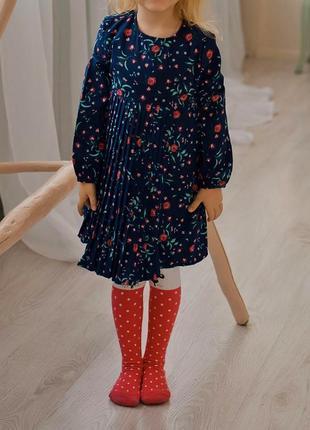 Нарядное платье плиссе длинный рукав ovs