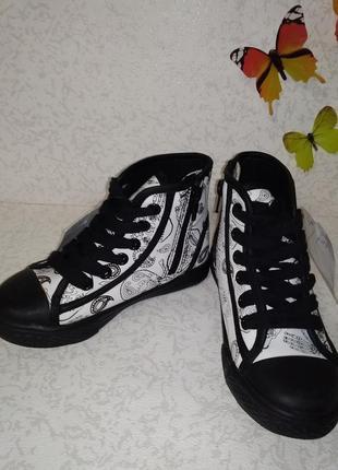 Кеды ботинки mini b (мини б) 28р.