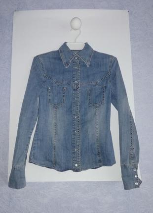 Суперская джинсовая рубашка