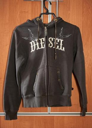 Жіночий брендовий худі від diesel з вишивкою