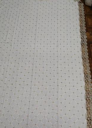 Натуральная льняная скатерть на стол. льняная прямоугольная скатерть 150*220