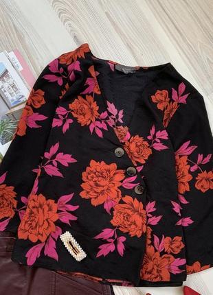 Рубашка на пуговицах цветочный принт