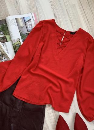 Рубашка блуза с объемным рукавом