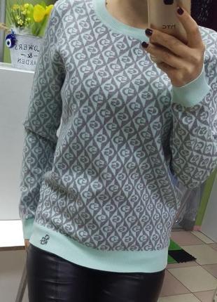"""Нежный теплый плотный свитерок """"мята"""" элит-класса наш 46 размер"""