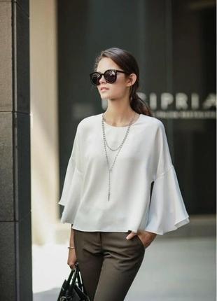 Блуза с расклешенными рукавами, 38