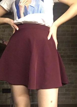 Бордовая юбка от grandtrend