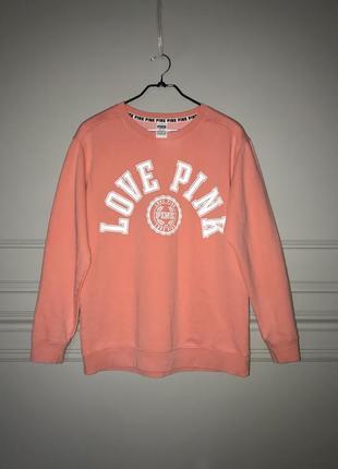 Персиковый свитер свитшот victoria's secret, оригинал!!1 фото