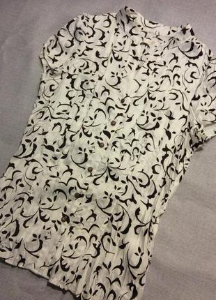 Кремовая блуза с коротким рукавом lifeline, размер xs