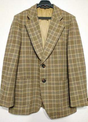 L 50 highwood мегакачество оч плотный пиджак в клетку блейзер жакет