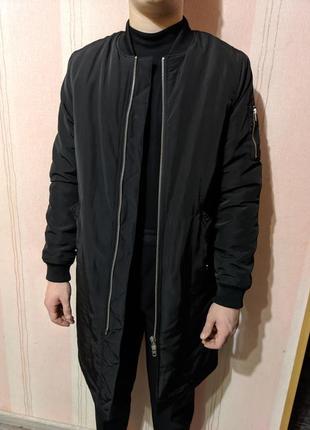 Мужская куртка бомбер удлиненный