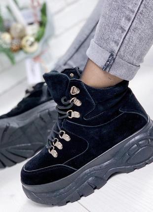 Замшевые демисезонные ботинки в стиле buffalo, спортивные ботинки 36-41р