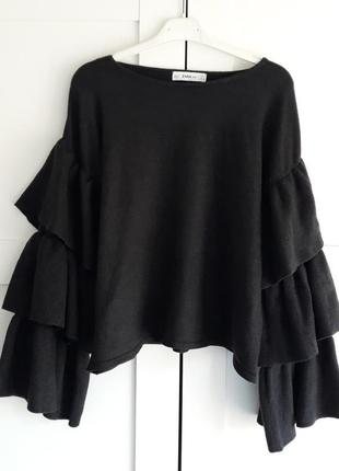 Zara knit, кофта с воланами