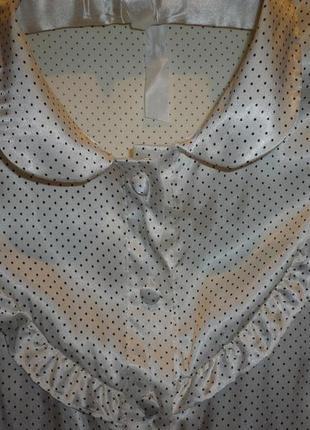 Блуза в горошек, цвет шампань