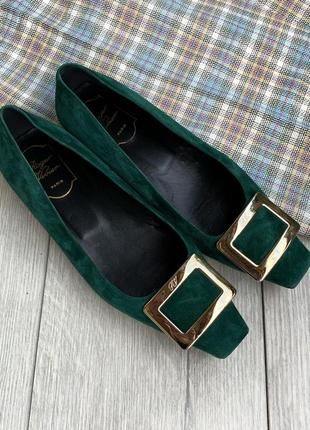 Кожаные туфли, шкіряні туфлі roger vivier италия