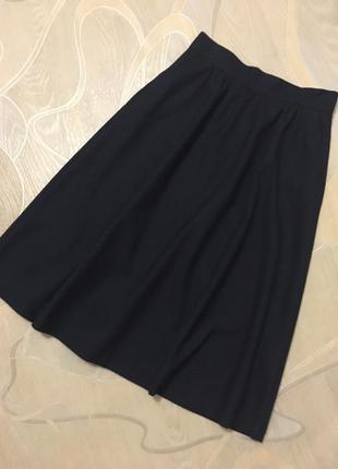 Жаккардовая юбка с карманами