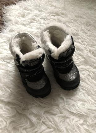 Тёплые ботинки на овчине minimen