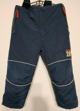 Полукомбинезон детский зимний комбинезон человечек штаны тёплые зимние