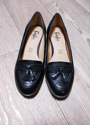 Лоферы туфли кожаные из натуральной кожи