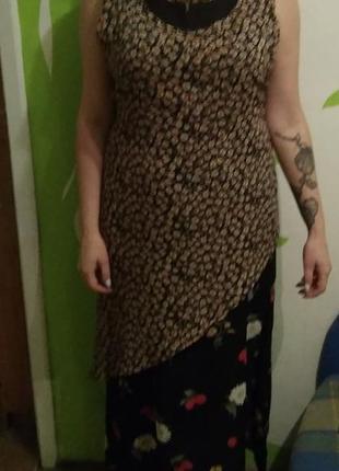 Двойное платье в бохо стиле