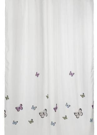 Шторки , штора , занавеска у ванную, для душа с бабочками