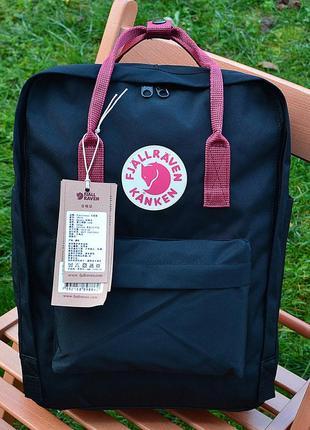 Рюкзак сумка канкен kanken fjallraven classic 16l топ качество черный бордовый