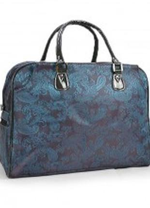 Сумка дорожная текстильная синяя