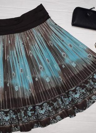 Летняя лёгкая юбка до колена размер 128 7-8 лет